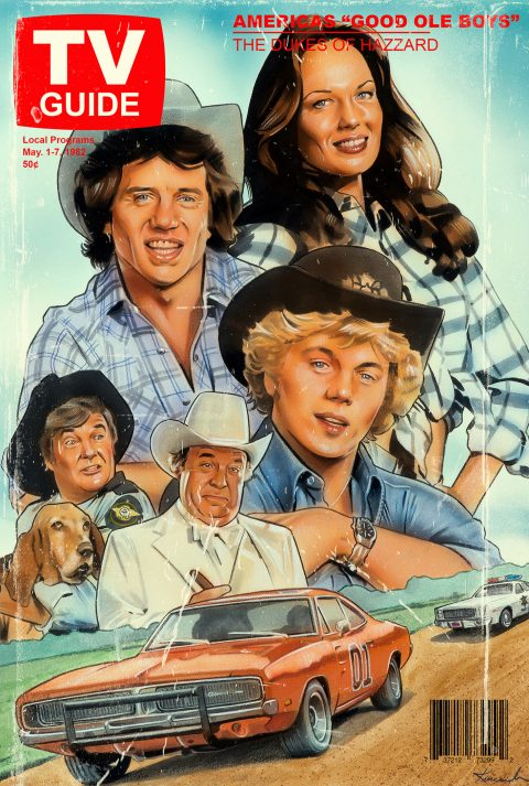 The Dukes of Hazzard TV Guide cover