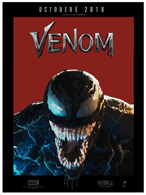 Venom Illustration Poster