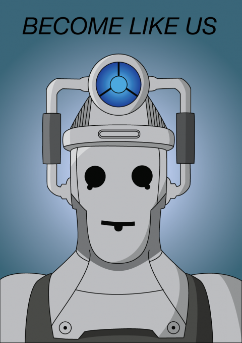 """Become Like Us Cyberman"" Poser"