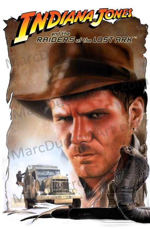 Indiana Jones and the Raiders of the Lost Ark Traditionally painted poster
