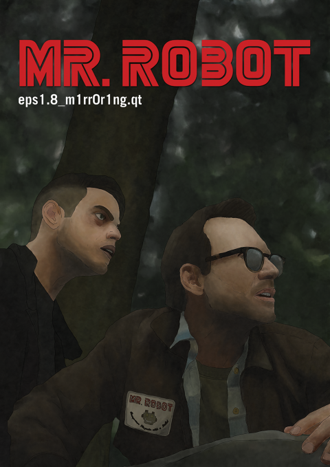 Mr Robot Illustrative Poster