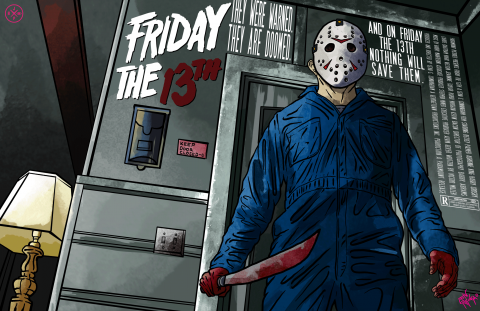 FRIDAY THE 13TH ALTERNATIVE POSTER DESIGN