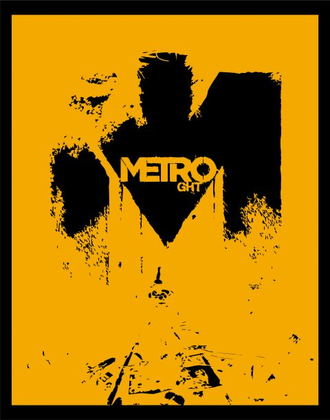 Metro Game Poster Illustration