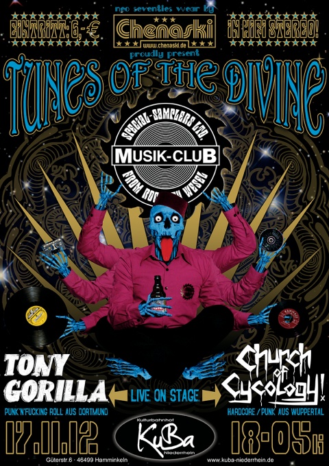 Musik-Club presents CHURCH OF CYCOLOGY & TONY GORILLA