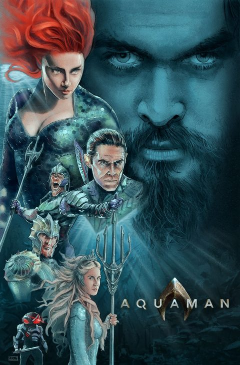 Aquaman alternative movie poster option