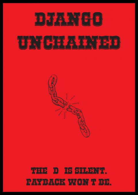 DJANGO UNCHAINED Minimal Poster Design