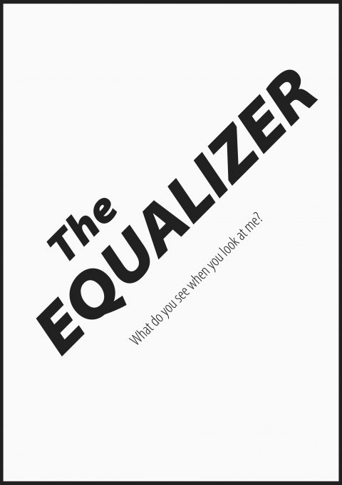 EQUALIZER Minimal Movie Poster Design