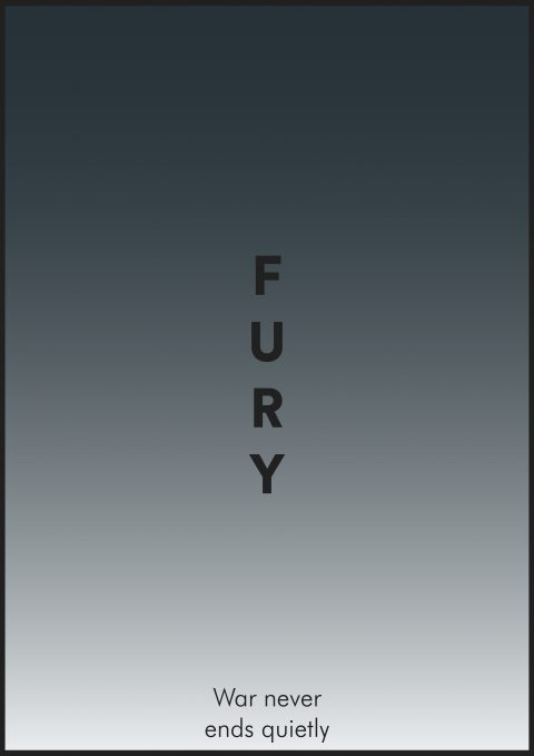 FURY Minimal Movie Poster Design