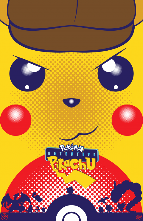 DETECTIVE PIKACHU ALTERNATIVE POSTER VARIANT 1