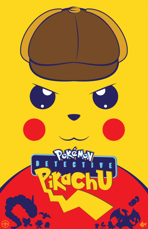 DETECTIVE PIKACHU ALTERNATIVE POSTER VARIANT 2