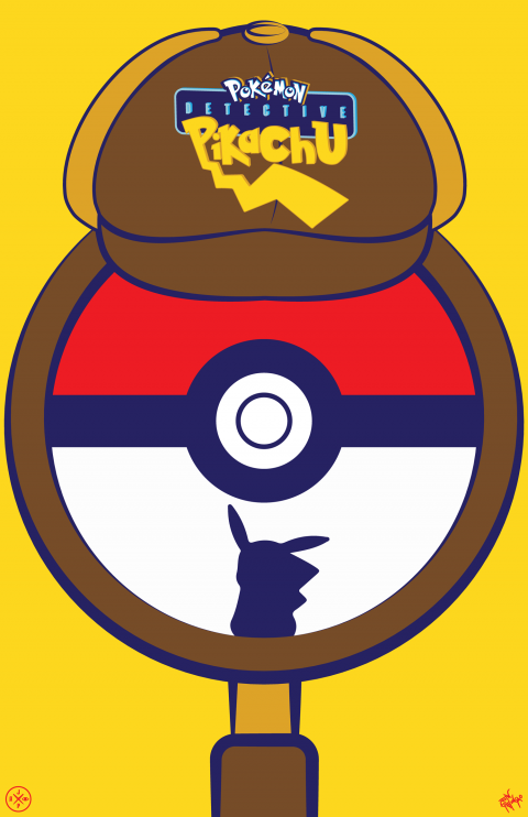 DETECTIVE PIKACHU ALTERNATIVE POSTER VARIANT 3