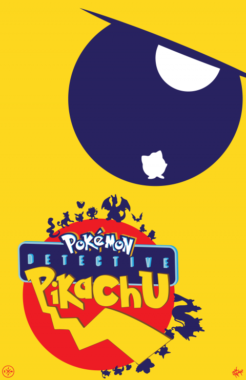 DETECTIVE PIKACHU ALTERNATIVE POSTER VARIANT 4