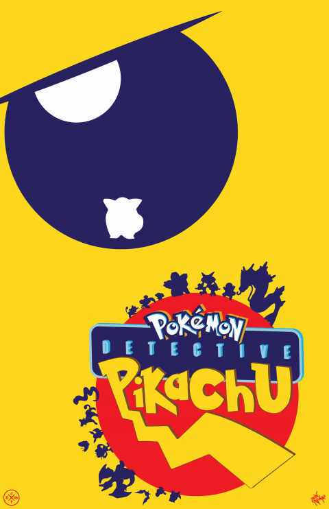 DETECTIVE PIKACHU ALTERNATIVE POSTER VARIANT 6