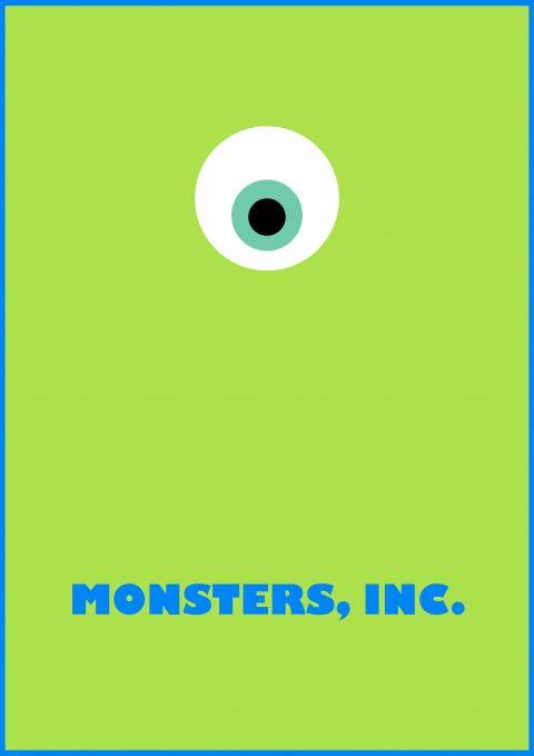 Monsters, Inc. Minimal Poster Design