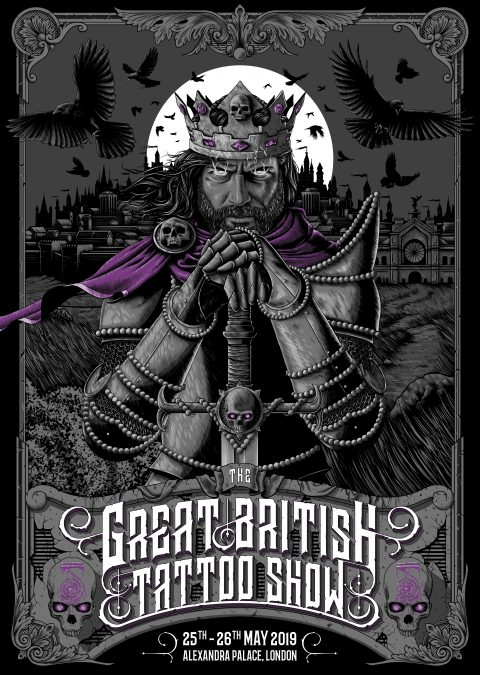 The Great British Tattoo Show Convention – Poster Commission | 2019