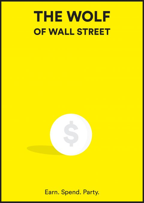 THE WOLF OF WALL STREET Minimal Movie Poster Design