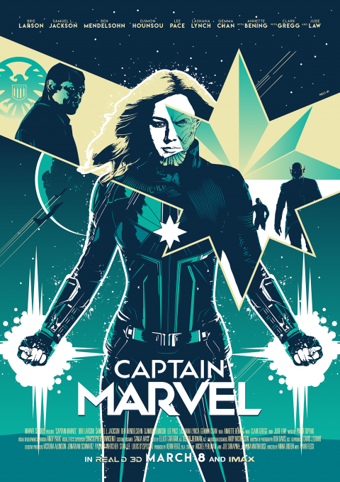 CAPTAIN MARVEL Poster Art