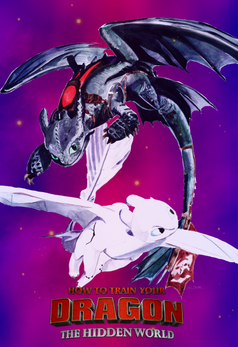 How To Train Your Dragon: The Hidden World (purple 1)