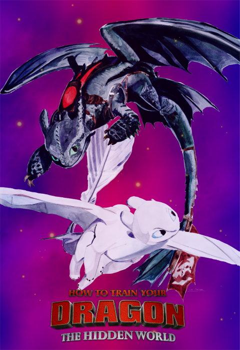 How To Train Your Dragon: The Hidden World (purple 2)