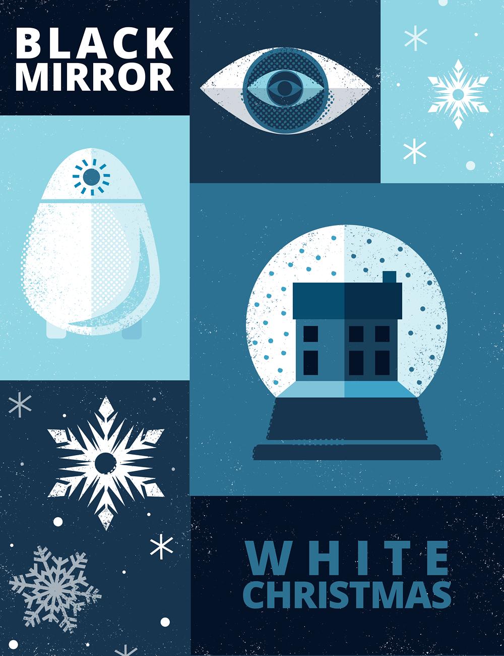 White Christmas Black Mirror Poster.White Christmas Posterspy
