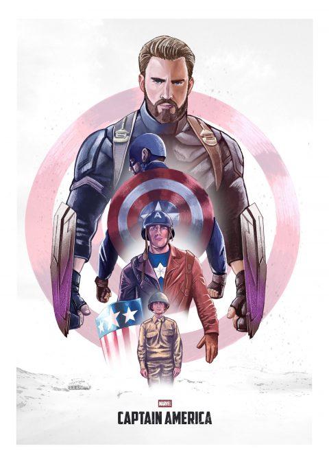 Captain America Tribute Poster