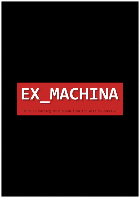 EX_MACHINA minimal Movie Poster Design