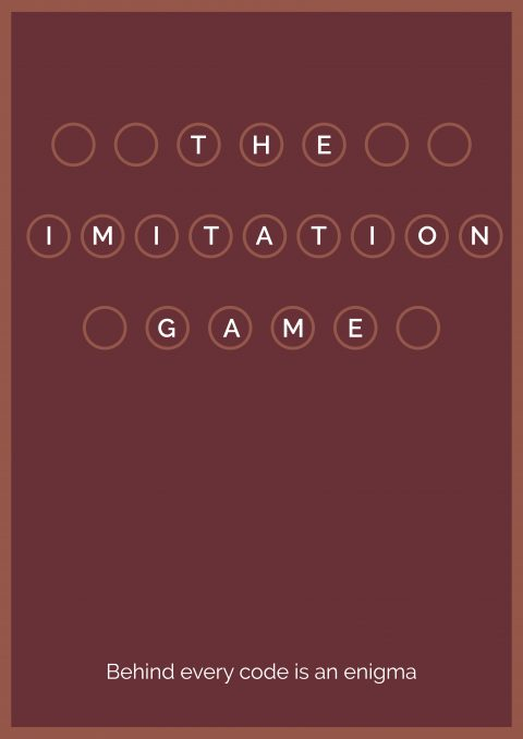 Imitation Game Minimal Movie Poster Design