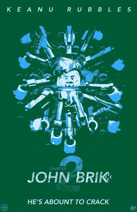 JOHN BRIK CHAPTER 2 MOVIE MASHUP PARODY 3D DESIGN BLUE TAFFY