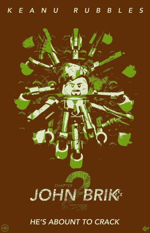 JOHN BRIK CHAPTER 2 MOVIE MASHUP PARODY 3D DESIGN GINGER GREEN VARIANT
