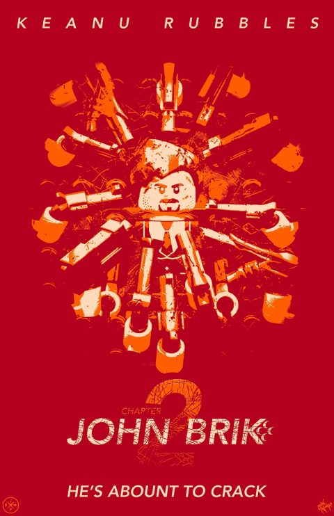 JOHN BRIK CHAPTER 2 MOVIE MASHUP PARODY 3D DESIGN ORANGE CRUSH VARIANT