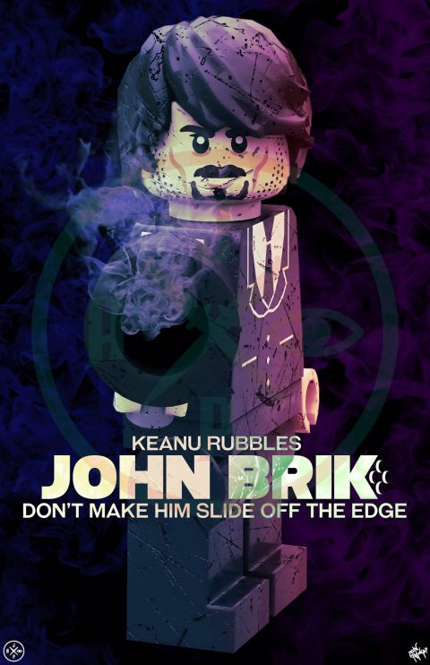 JOHN BRIK MOVIE MASHUP PARODY 3D DESIGN PURPLE MIDNIGHT VARIANT