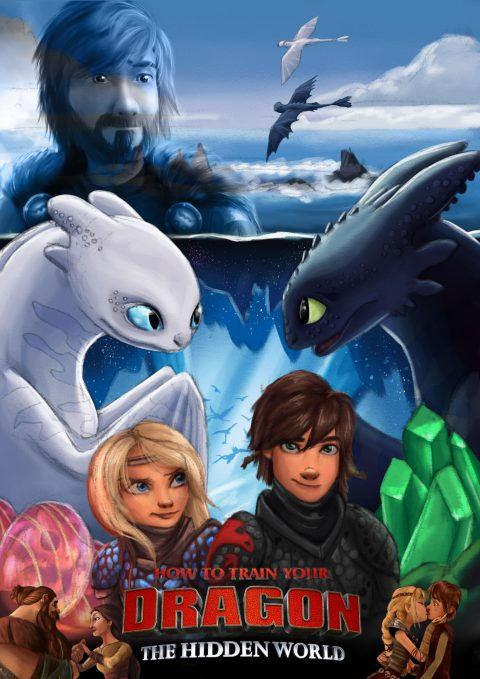 How To Train Your Dragon : The Hidden World Poster