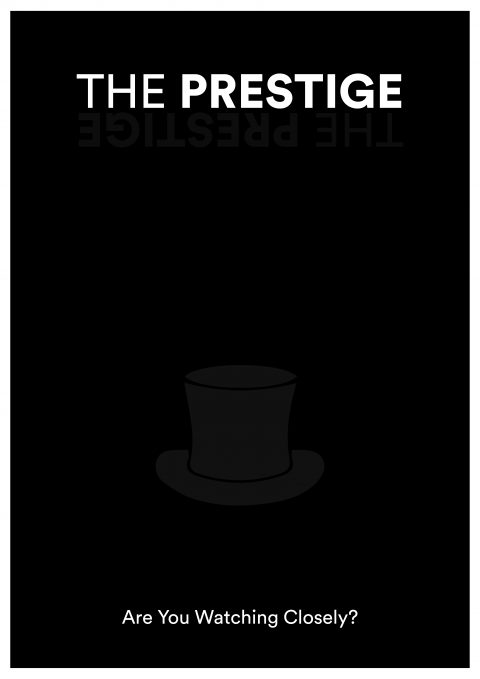 THE PRESTIGE Minimal Movie Poster Design