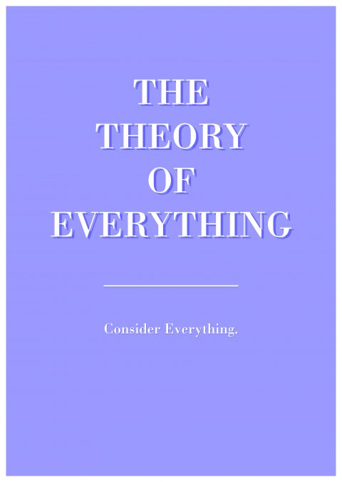 THE THEORY OF EVERYTHING Minimal Movie Poster Design