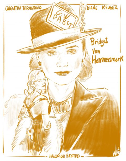Inglorious Basterds_Bridget von Hammersmark Study