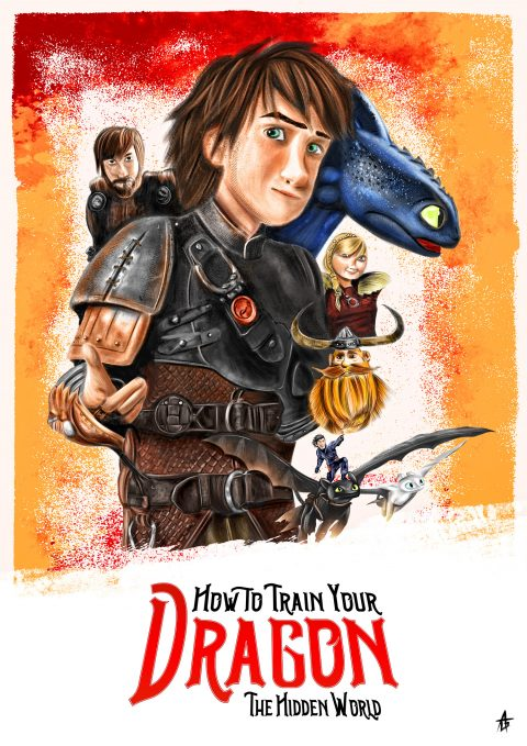 How to Train Your Dragon: The Hidden World Poster Version 2