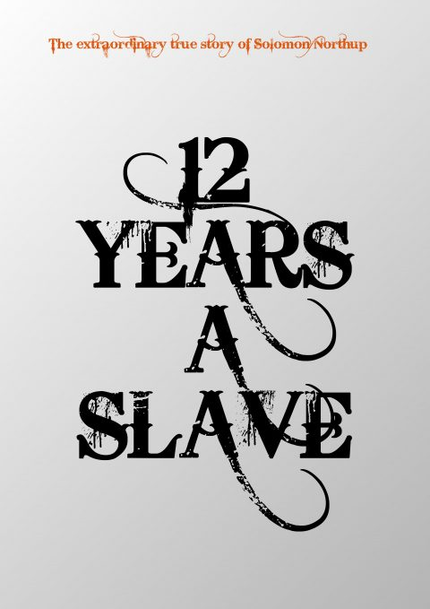 12 YEARS A SLAVE Minimal Movie Poster