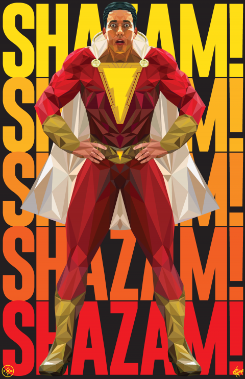 SHAZAM! ALTERNATIVE MOVIE POSTER VARIANT 1