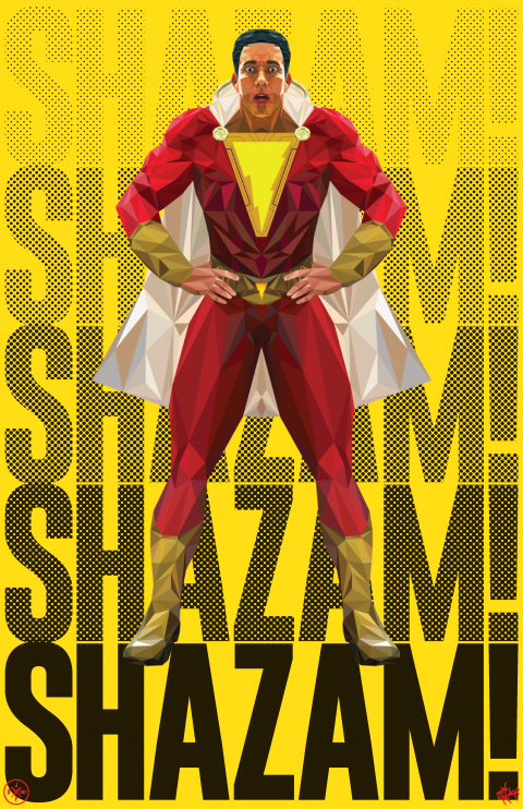 SHAZAM! ALTERNATIVE MOVIE POSTER VARIANT 2