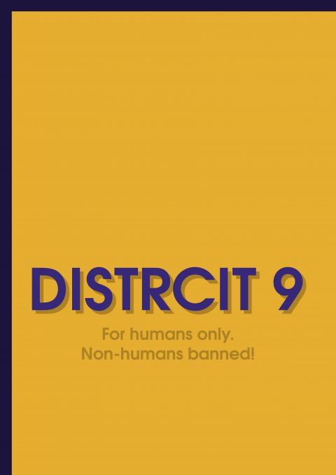 DISTRICT 9 Minimal Movie Poster