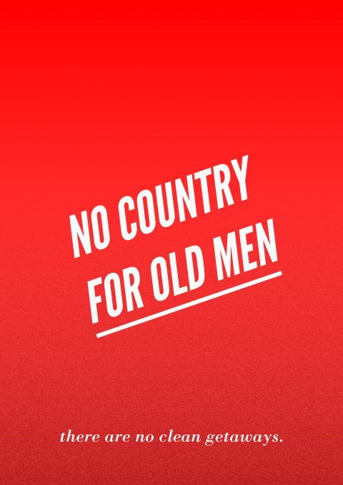 NO COUNTRY FOR OLD MEN Minimal Movie Poster