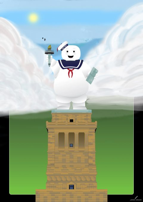 Statue of Stay Puft – Happy