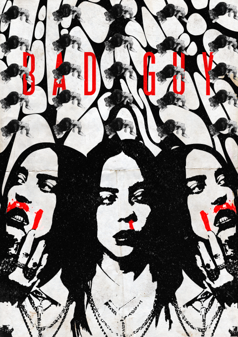 "Billie Eilish ""Bad Guy"" Poster"