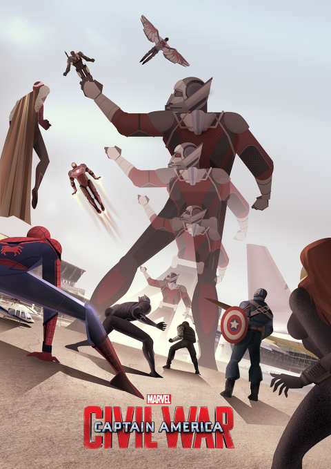 Captain America – Civil War Illustration