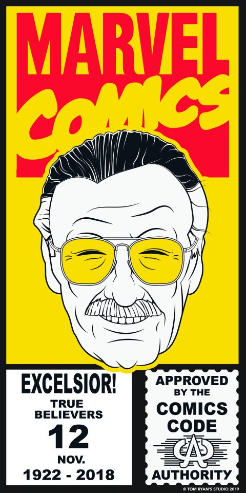 Corner Art featuring Stan Lee