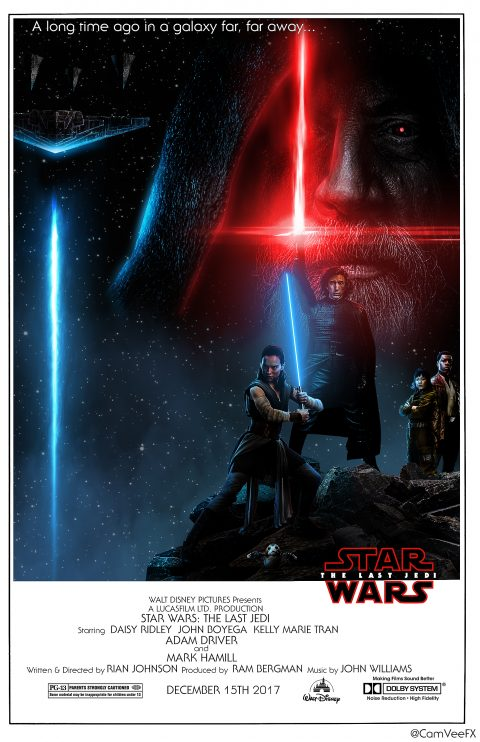 Star Wars: The Last Jedi Retro Poster