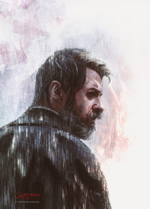 Rain- Logan Tribute Portrait