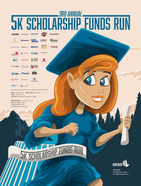 USSD 5k Scholarship Run Poster