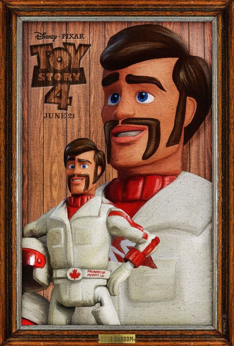 """""""Duke Caboom"""" Toy Story 4 Tribute Poster"""