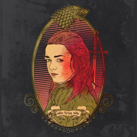 Game of Thrones: Arya Stark in procreate